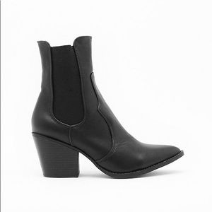 Nasty Gal Faux Leather Chelsea Boots
